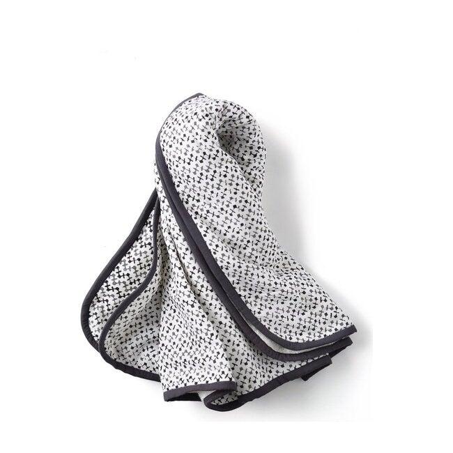 Block-Printed Terry Towel, Greenwich