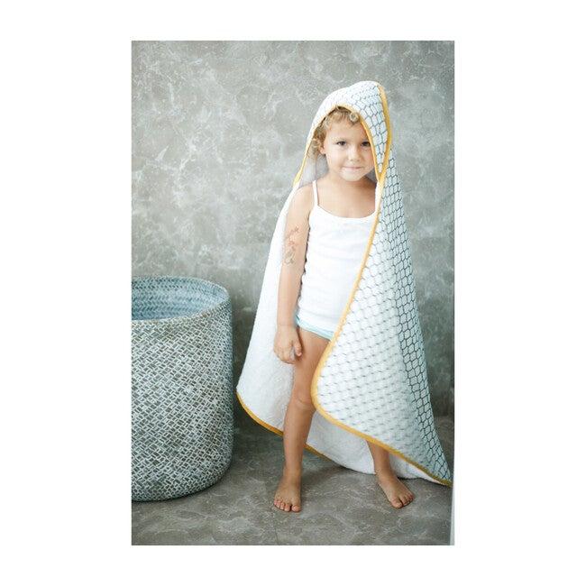 Block-Printed Terry Towel, Erawan