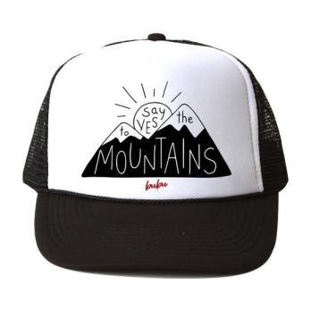 Say Yes To The Mountains Hat, Black