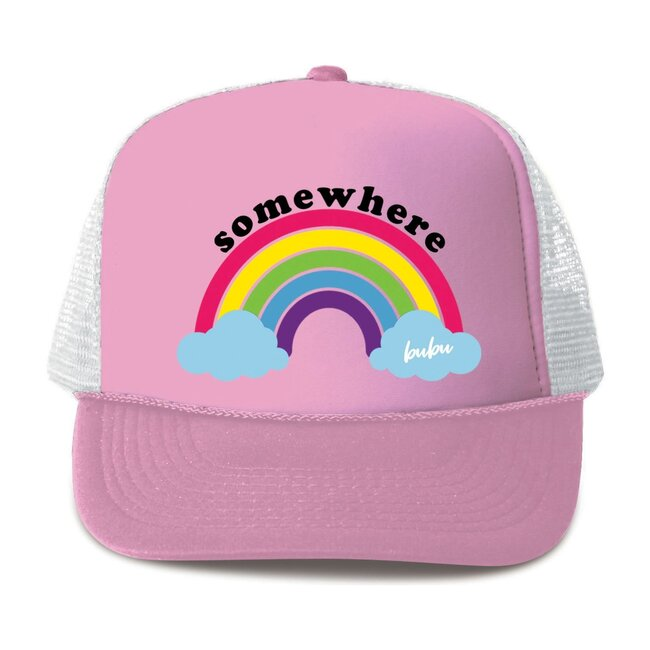 Somewhere Over The Rainbow Hat, Light Pink