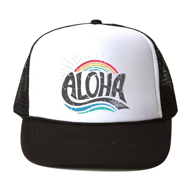 Aloha Rainbow Hat, Black