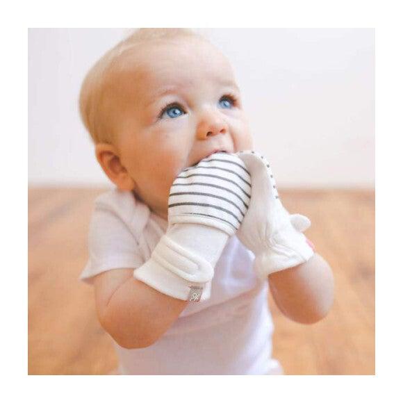 Baby Mitts, Stripe Gray