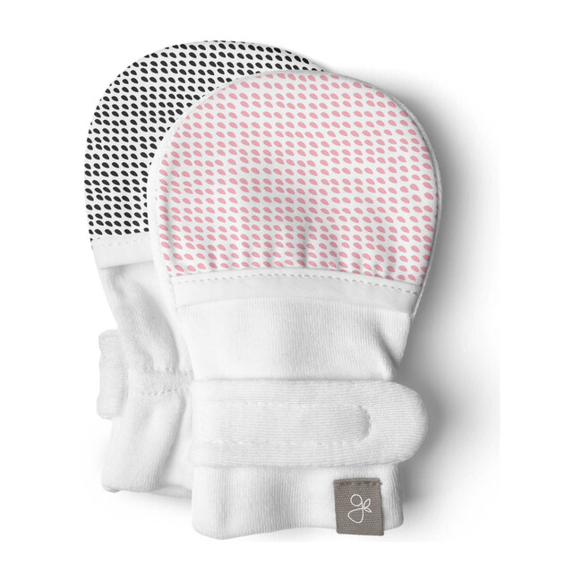 Baby Mitts, Drops Pink