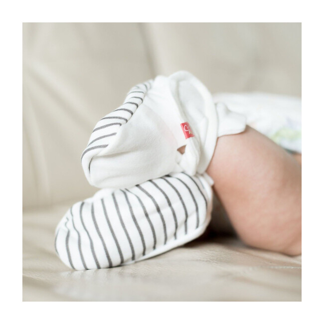 Baby Boots, Stripe Gray