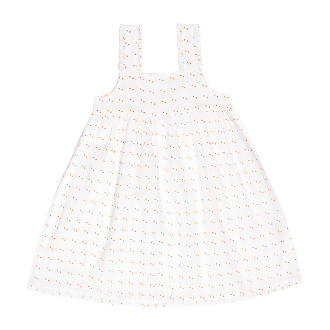 Zoe Girls Nightdress, Orange Double Dots