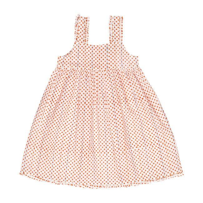 Simone Girls Nightdress, Orange Polka Dot