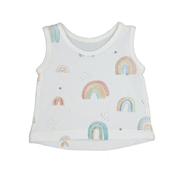 Rainbow Graphic Tank Top, Cream