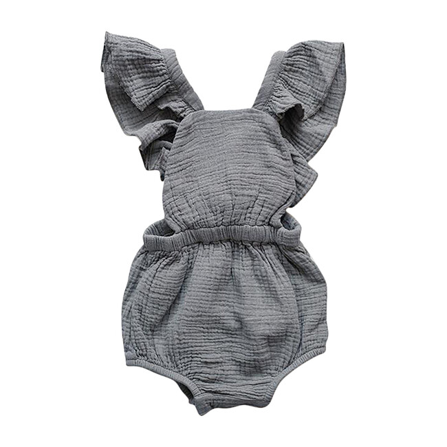 The Ruffle Romper, Lead Gray