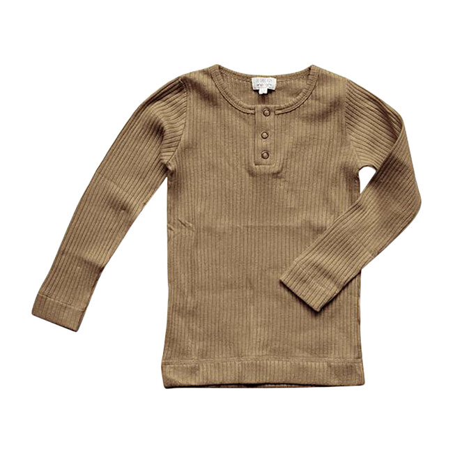 The Ribbed Top, Camel