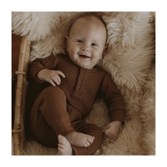 The Ribbed Pajama, Walnut