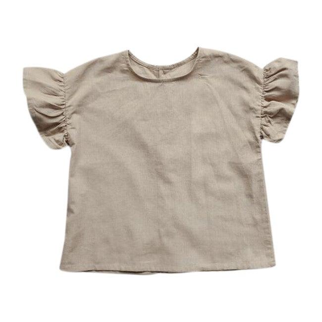 The Frill Linen Top, Oatmeal