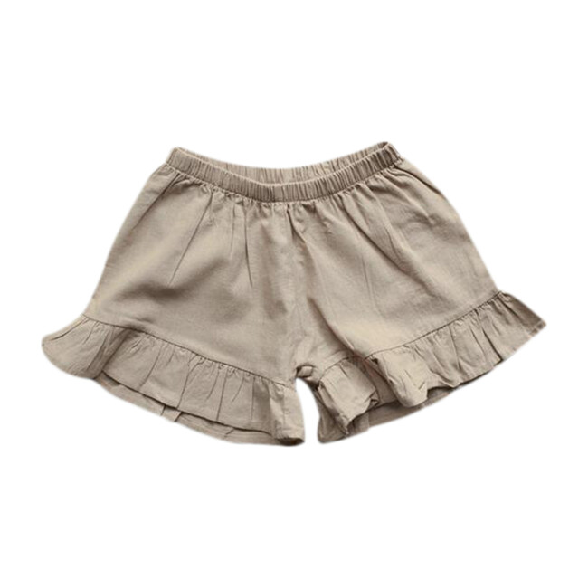 The Frill Linen Short, Oatmeal
