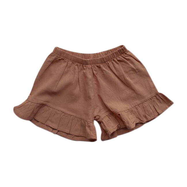 The Frill Linen Short, Cinnamon