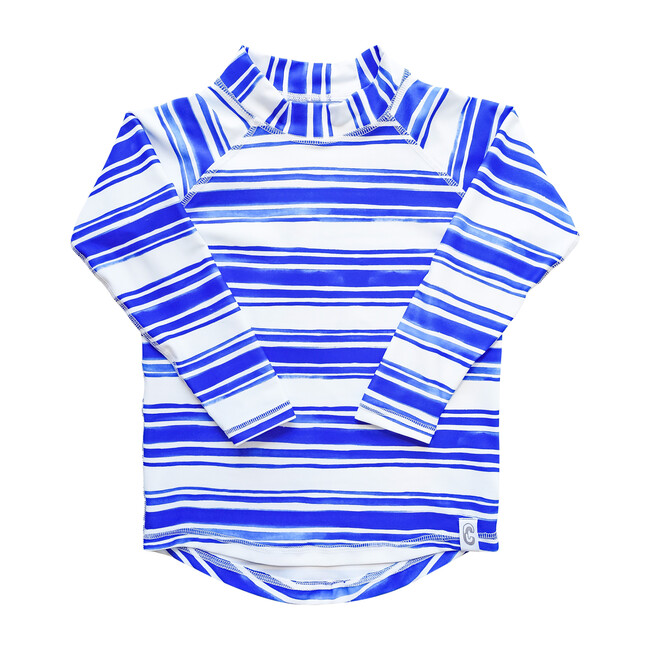 Sea & Snow Long Sleeve Rash Top, Seastripe