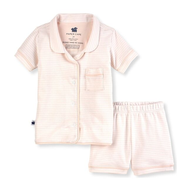 Short Sleeve Classic Pajamas, Pink Stripe