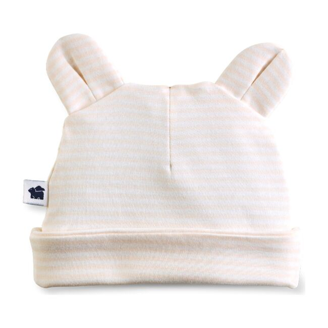 Bear Ear Hat, Pink Stripe