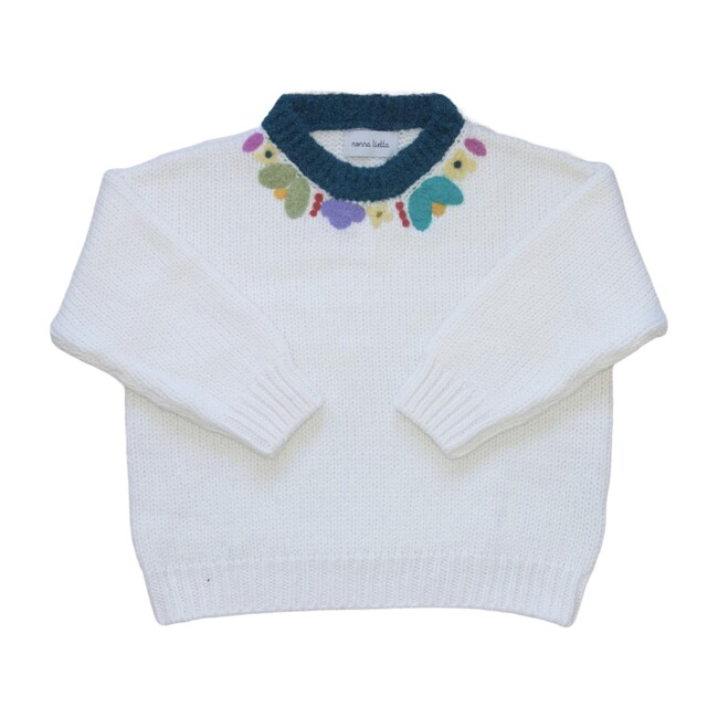Women's Organic Sweater, Bianco