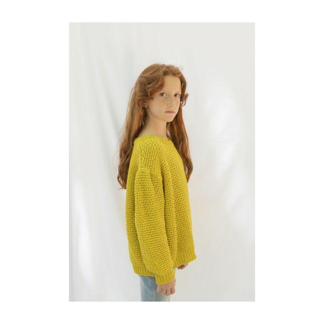 Organic Cotton Sweater, Golden Yellow