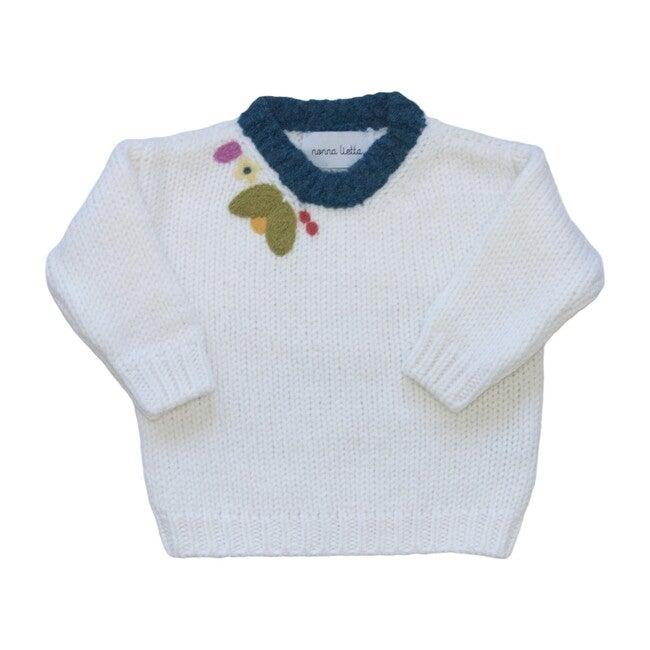 Organic Cotton Sweater,  Bianco
