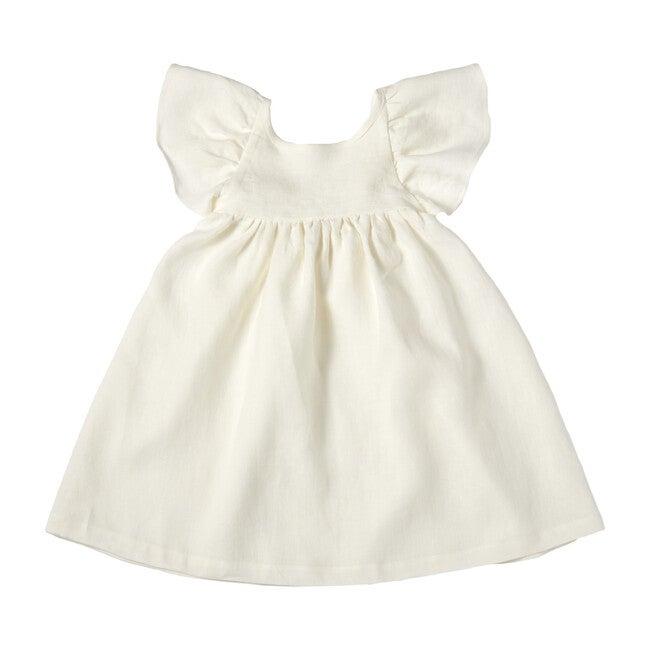 Penelope Dress, Linen White