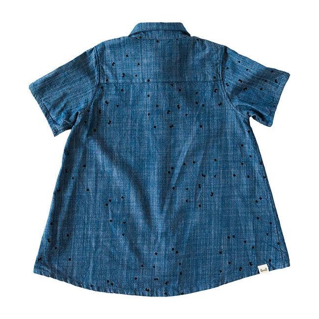 Work & Play Dress Logo Print, Blue