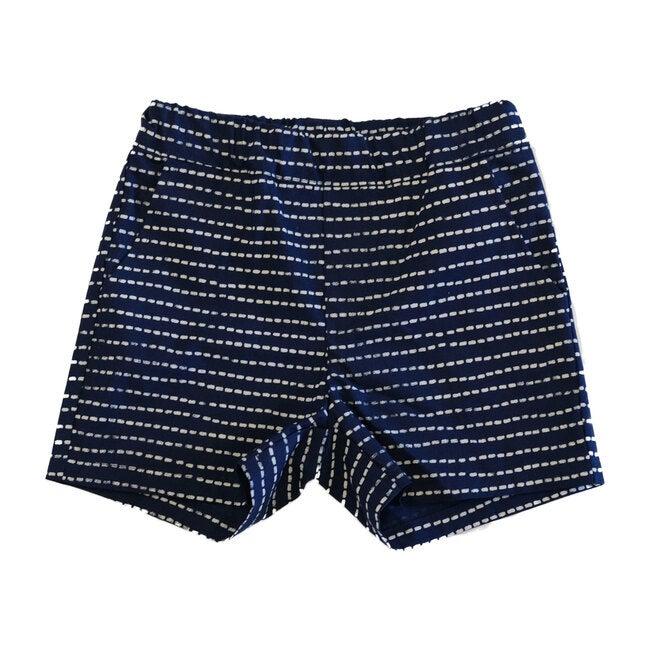 Easy Shorts Stitch Print, Indigo