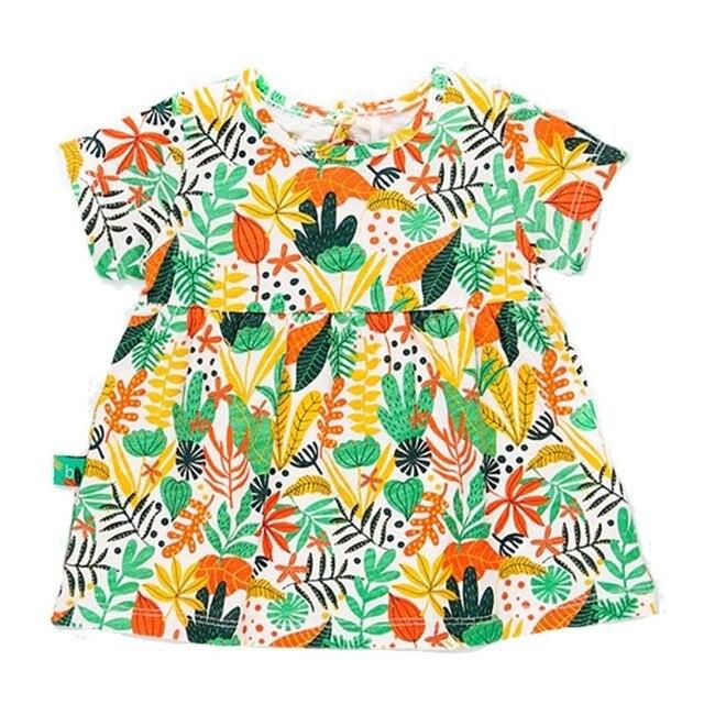 Floral Forest Knit Dress, Multi