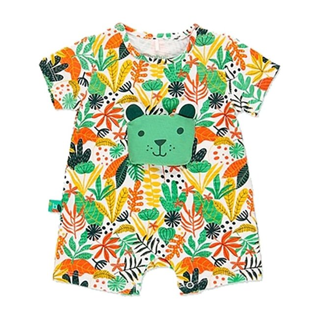 Floral Teddy Bodysuit, Green