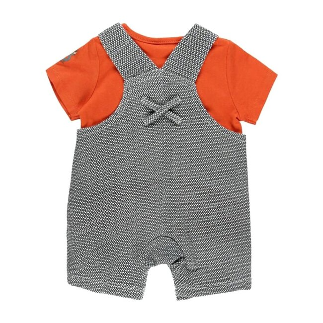 Bird Overalls Outfit, Orange