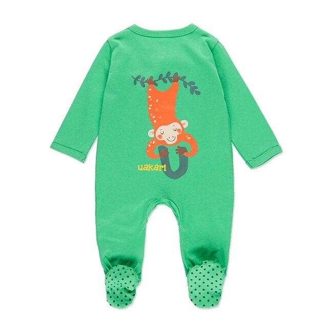 Animals Graphic Bodysuit, Green