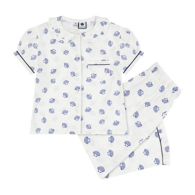Ruffle Sleeve Loungewear Set, Seashells
