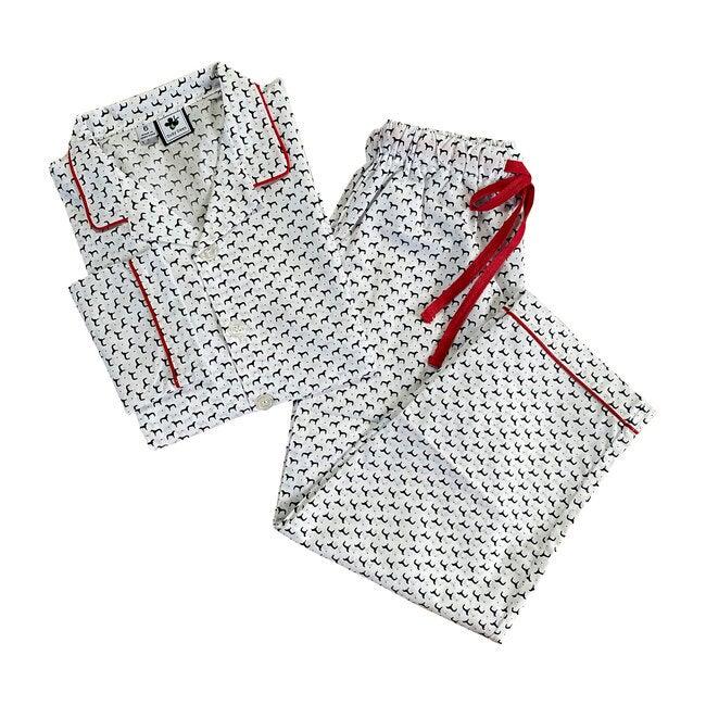 Long Sleeve Loungewear Set, Navy Puppy