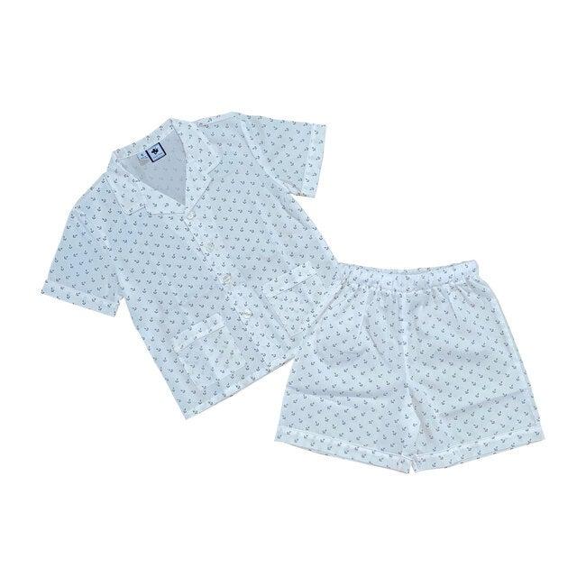 Short Sleeve Loungewear Set, Navy Anchor