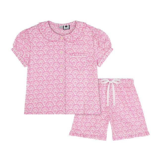 Ruffle Sleeve Loungewear Set, Pink Fan
