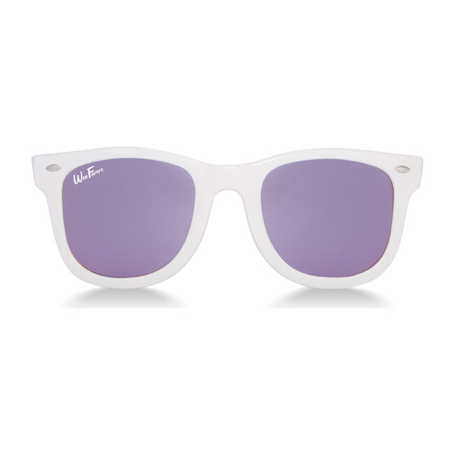 Polarized Sunglasses, White with Purple