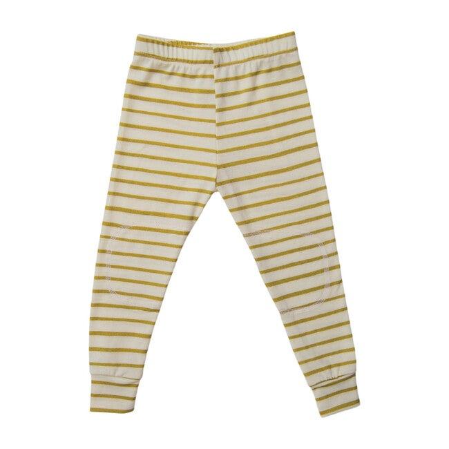 Merino Wool Long Johns, Lemongrass Stripe