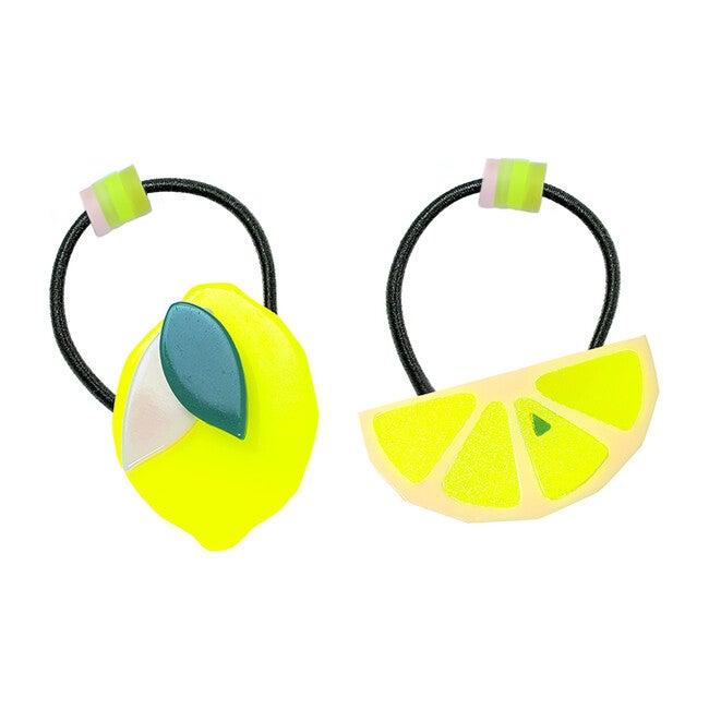 Lemon Half And Slice Ponytail (Pair)