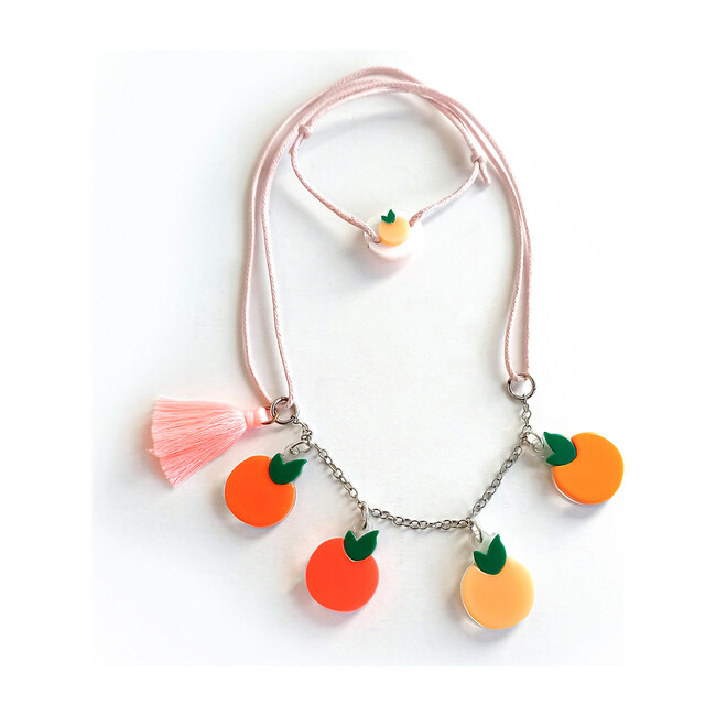 Multi Orange Necklace - Necklaces - 1