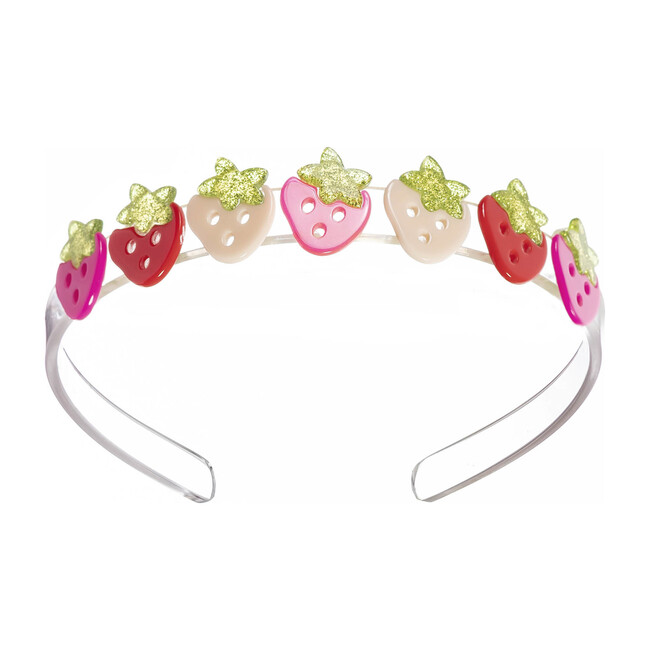 Multi Strawberry Pink Red Headband