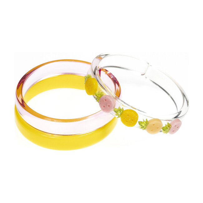 Multi Pineapple Pink Yellow Bangles