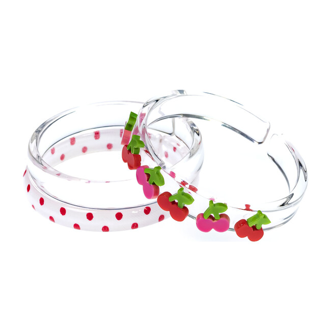 Multi Cherry Clear & Dots Bangles