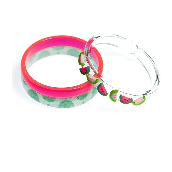Multi Watermelon Pink Green Bangles