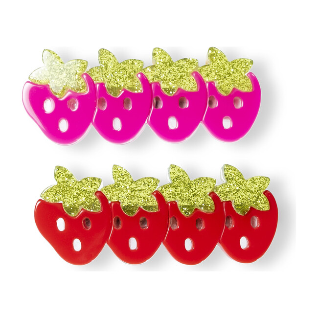 Multi Strawberry Pink Red Alligator Clips