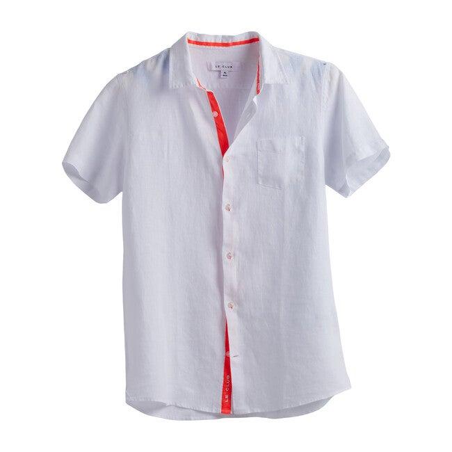 Peter Boys Linen Shirt, White - Shirts - 1