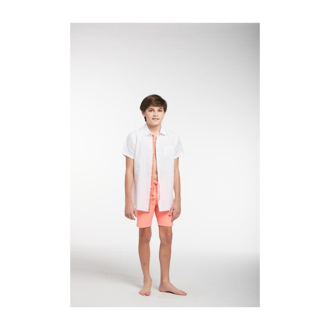 Peter Boys Linen Shirt, White