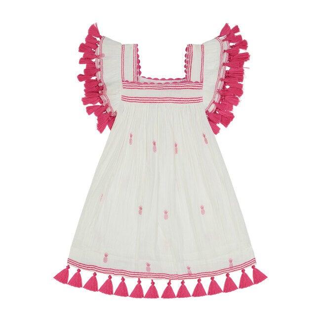 Serena Tassel Dress, Pink Pineapple
