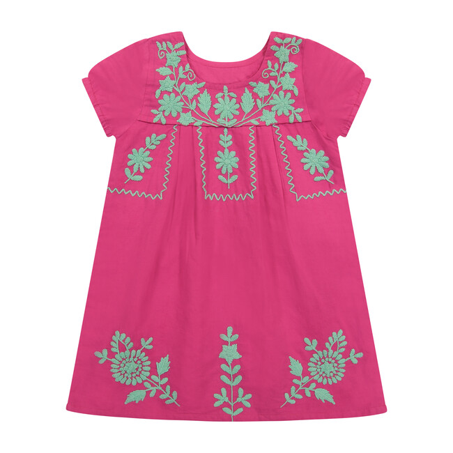Noor Embroidery Dress, Hibiscus