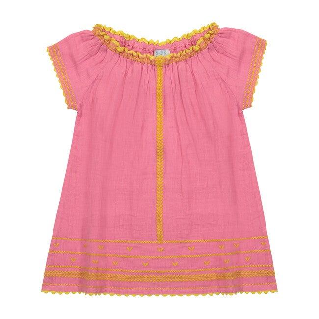 Hadley Smocked Tunic Dress, Honeysuckle Yellow
