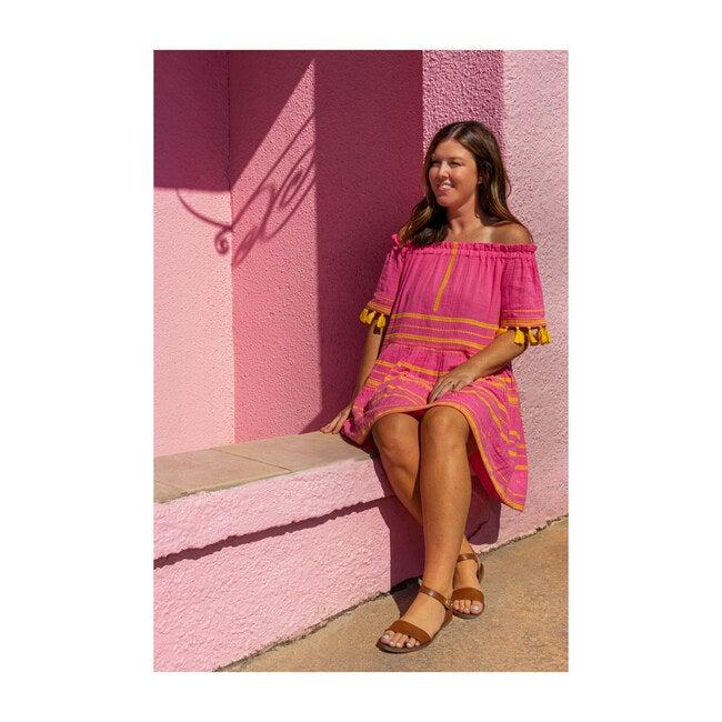 Women's Suri Off Shoulder Mini Dress, Honeysuckle Yellow