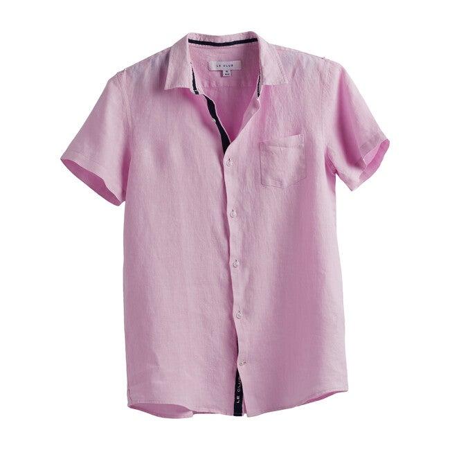 Peter Boys Linen Shirt, Pink